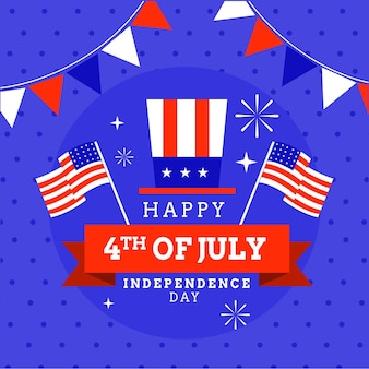 Flat 4 juli - onafhankelijkheidsdag illustratie