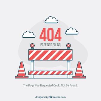 Flat 404-foutsjabloon