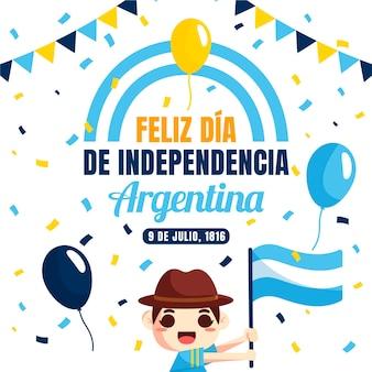 Flat 9 de julio - declaracion de independencia de la argentina illustratie