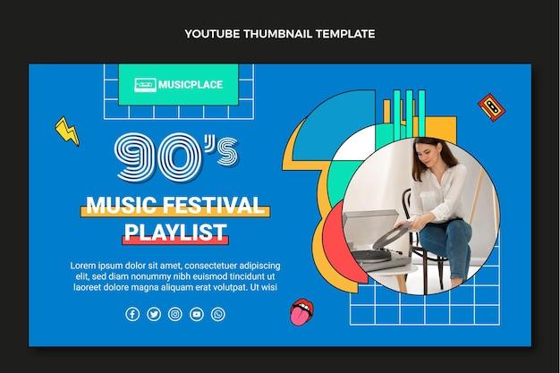 Flat 90s nostalgisch muziekfestival youtube thumbnail