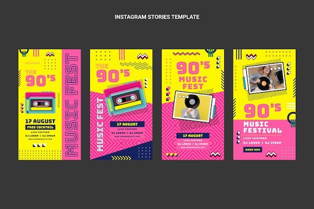 Flat 90s nostalgische muziekfestival ig stories