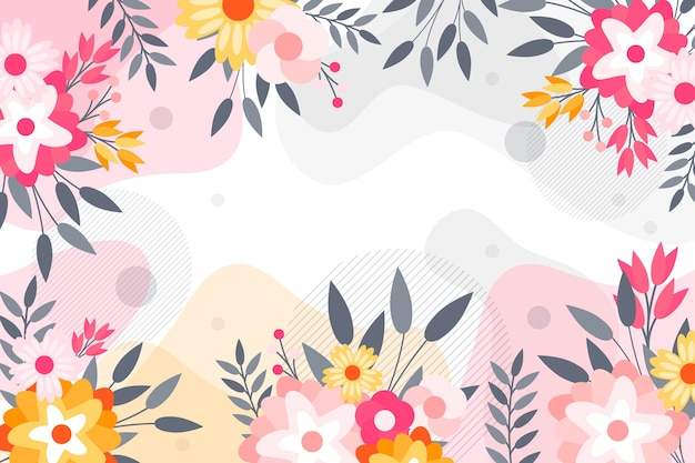 Flat abstract floral achtergrondconcept