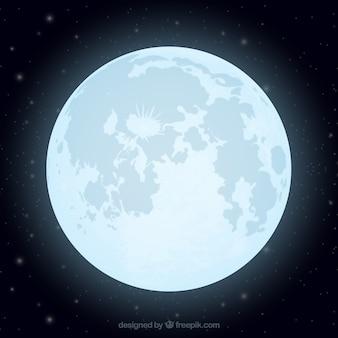 Flat achtergrond van glanzende maan
