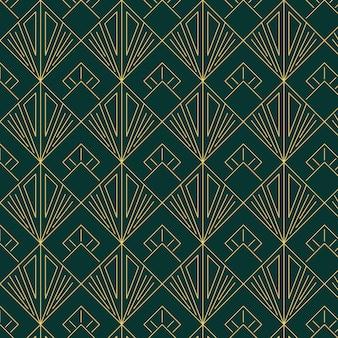 Flat art deco patroon collectie