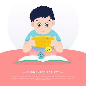 Flat augmented reality illustration