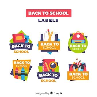 Flat back to school kentekenverzameling