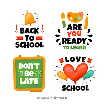 Flat back to school kentekenverzameling