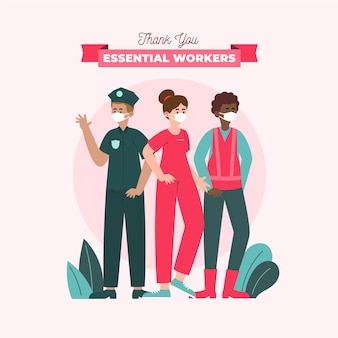 Flat bedankt essentiële werknemers