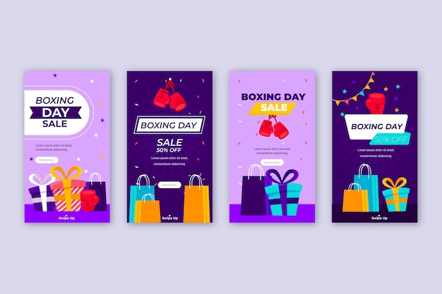 Flat boxing day sale instagram stories collectie