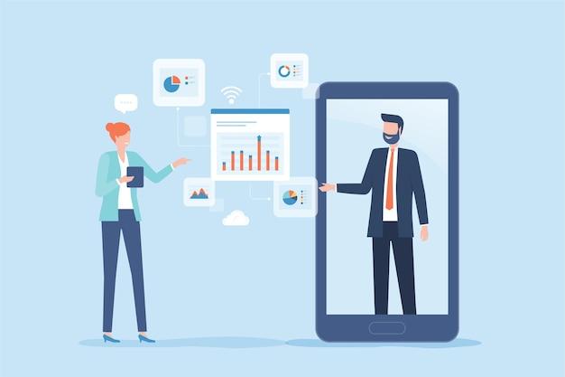 Flat business online financieel adviseur en online investering