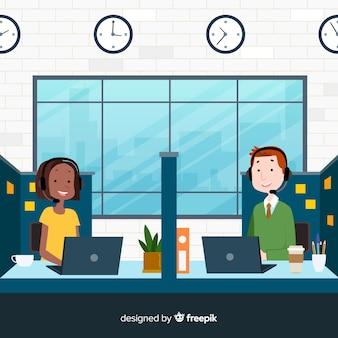 Flat call center agentontwerp