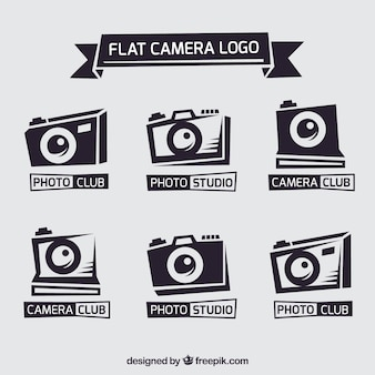 Flat camera logo collectie