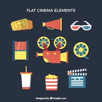 Flat cinema element collectie