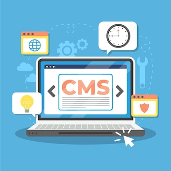 Flat content management systeemconcept