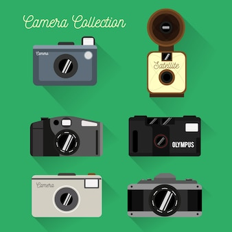 Flat design camera collectie