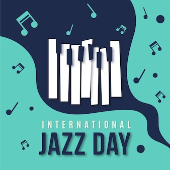 Flat design internationa jazz day celebration