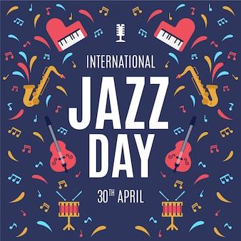 Flat design internationa jazz day