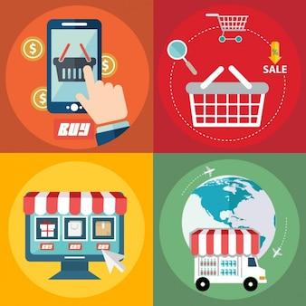 Flat elementen over de elektronische handel