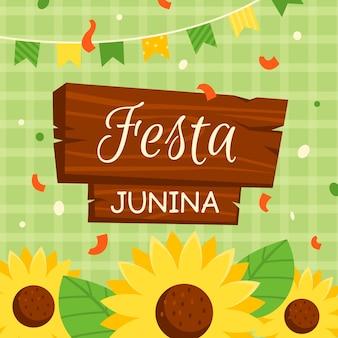 Flat festa junina achtergrond