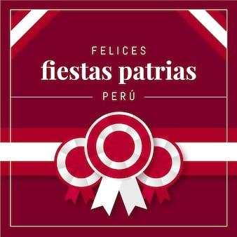 Flat fiestas patrias de peru illustratie