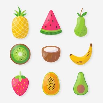 Flat fruit collectie
