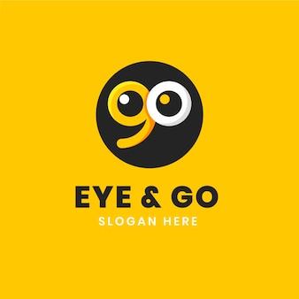 Flat gaan logo sjabloon