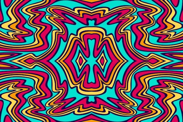 Flat-hand getekend psychedelische groovy achtergrond