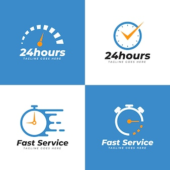 Flat horloge logo collectie