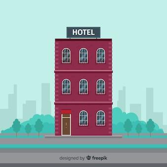 Flat hotel gebouw achtergrond