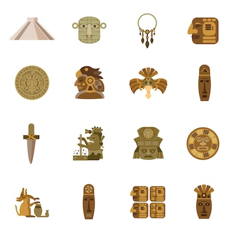 Flat icon maya