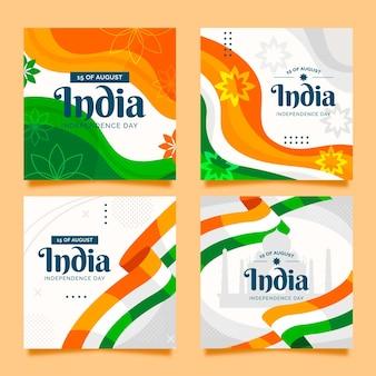 Flat india onafhankelijkheidsdag instagram posts collectie