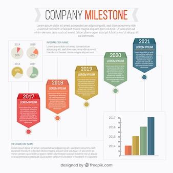 Flat infographic met business stijl