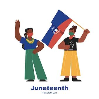 Flat juneteenth illustratie