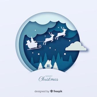 Flat kerst achtergrond