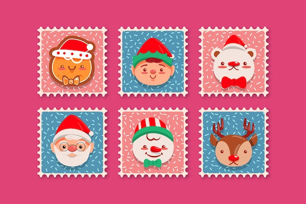 Flat kerstzegelpakket