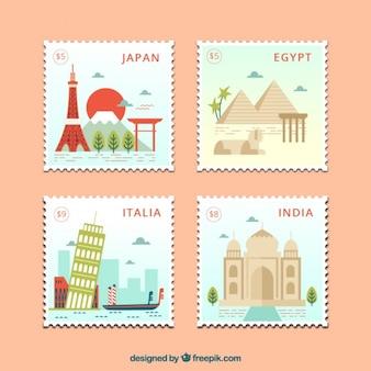 Flat landen postzegels