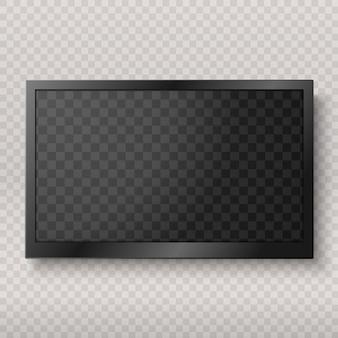 Flat led monitor van computer of frame geïsoleerd