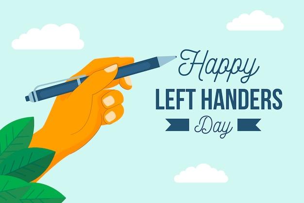 Flat linkshandigen dag concept