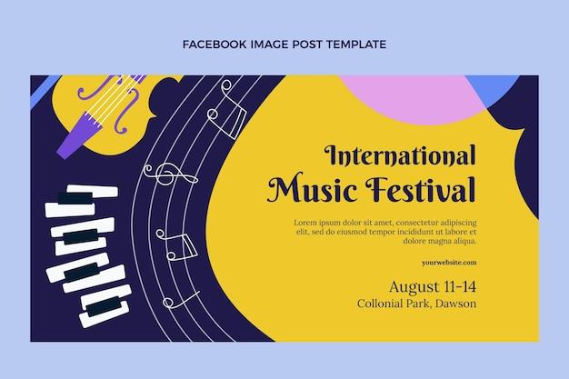 Flat muziek festival facebook bericht