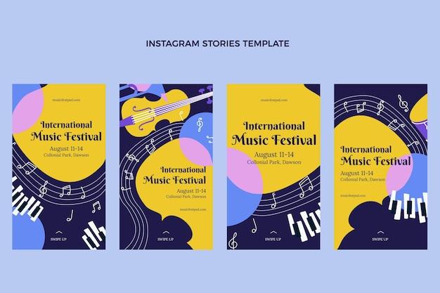 Flat muziek festival instagram verhalen