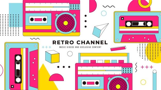 Flat muziek youtube channel art