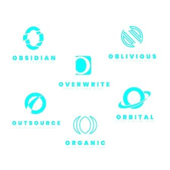 Flat o logo template collectie
