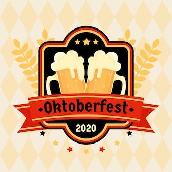 Flat oktoberfest festival
