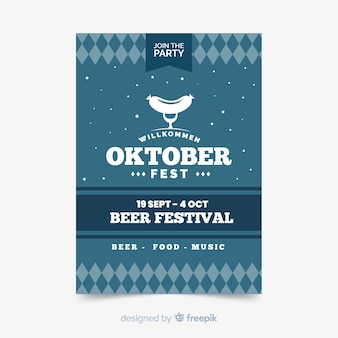 Flat oktoberfest sjabloon folder