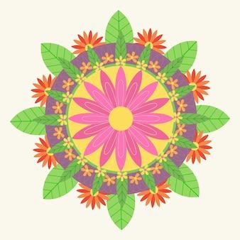 Flat onam florale decoratie