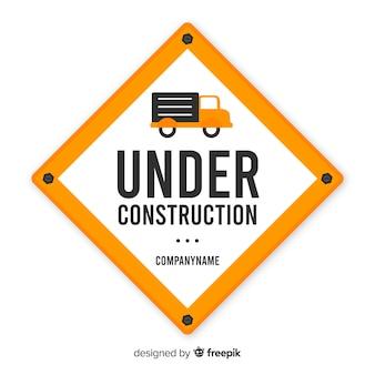 Flat onder constructie teken achtergrond