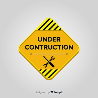 Flat onder constructie teken