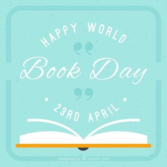 Flat open boek van de dag boek