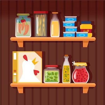 Flat pantry illustratie