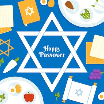 Flat passover (pesach) concept